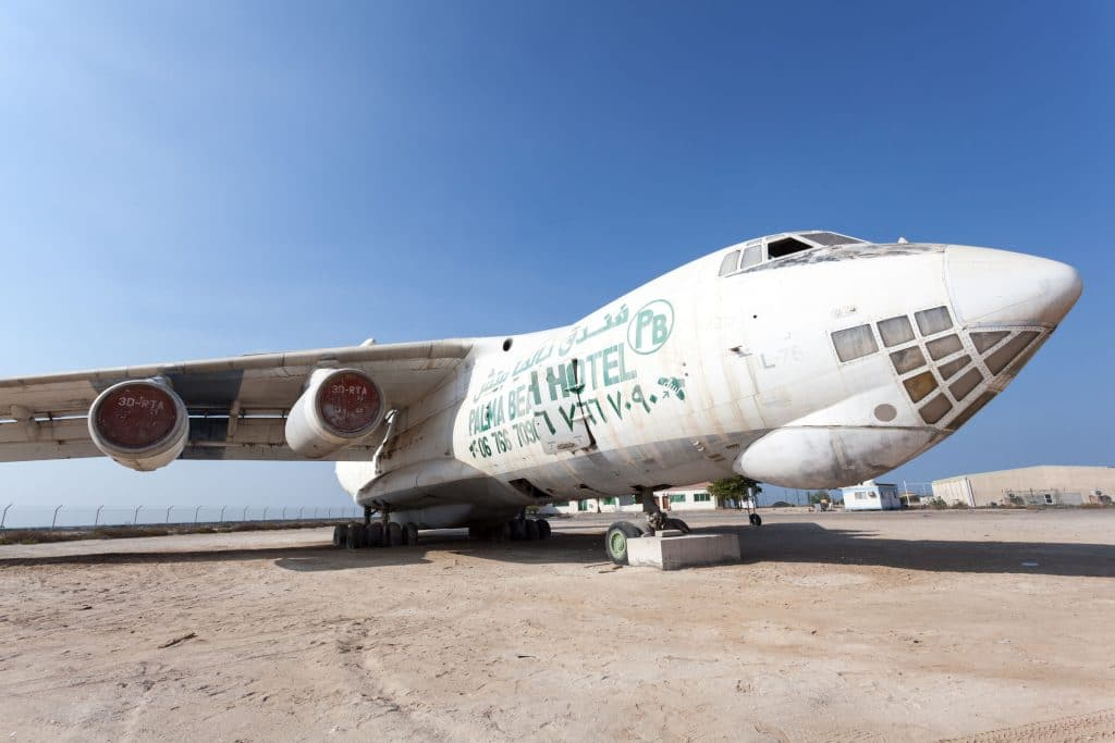 Antigo avião de carga russo Ilyushin IL 76