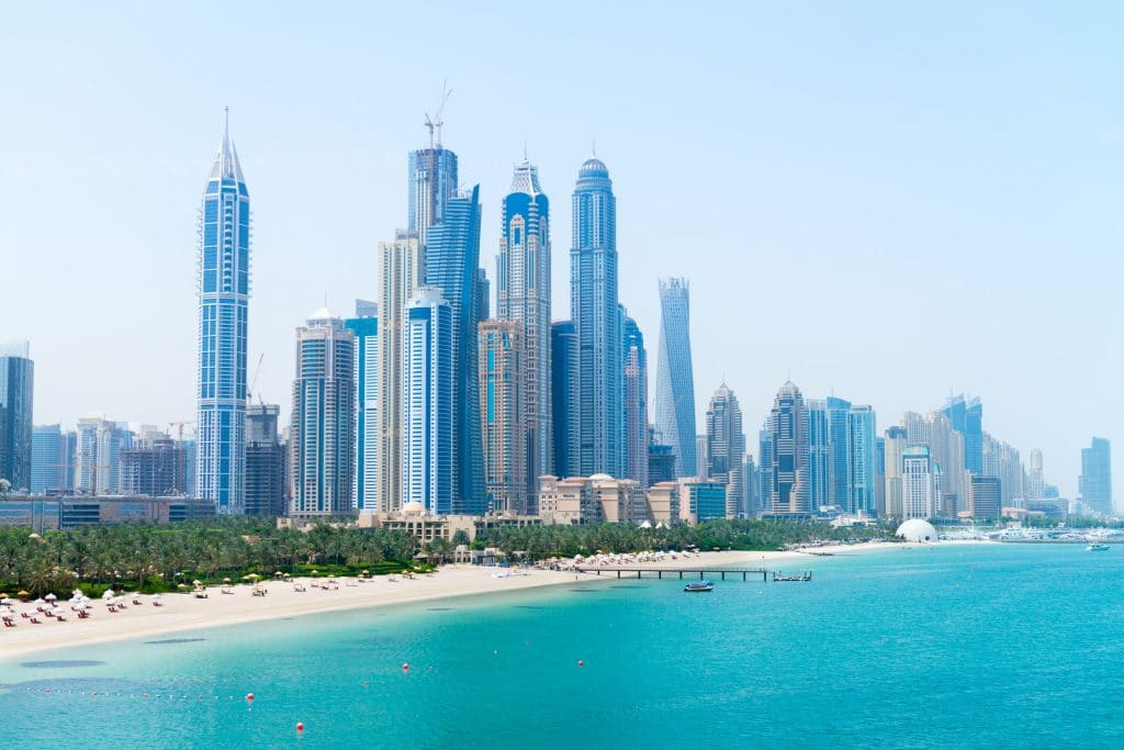 As melhores praias do Dubai