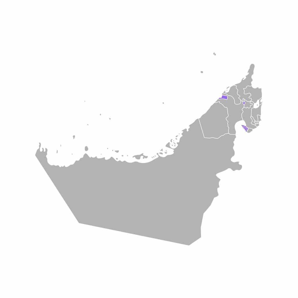 Mapa de Ajman