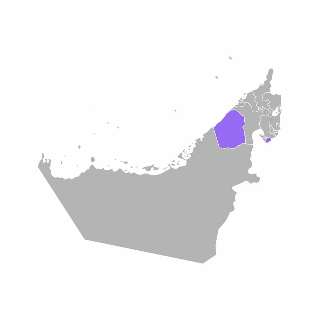 Mapa do Dubai