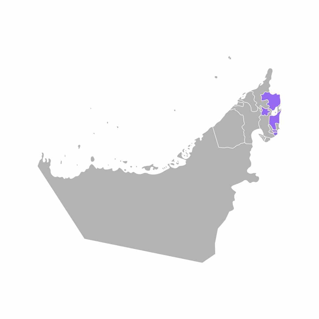 Mapa de Fujairah