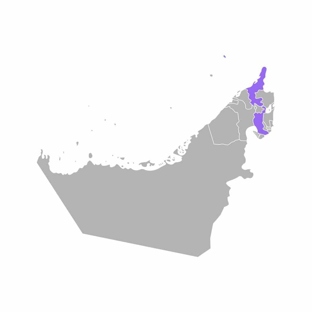 Mapa de Ras Al Khaimah Emirados Árabes Unidos