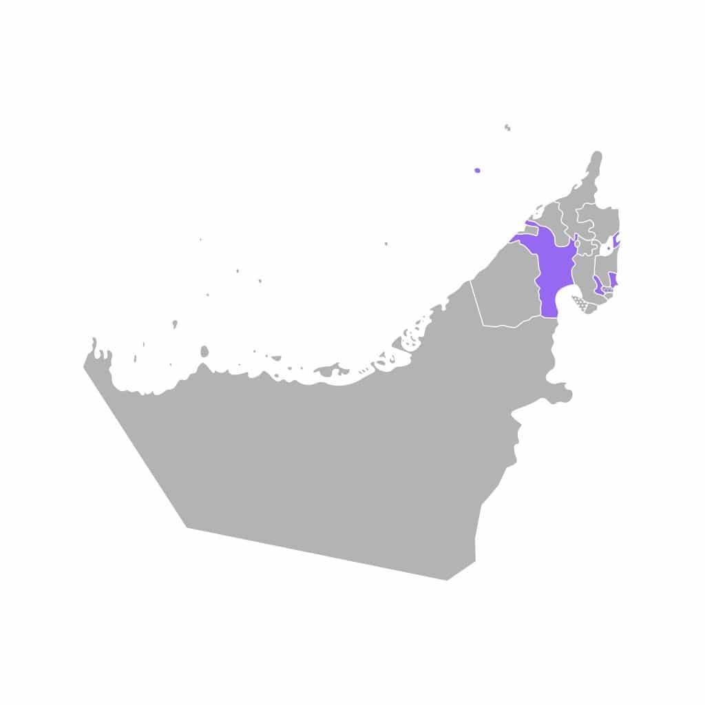 Mapa de Sharjah