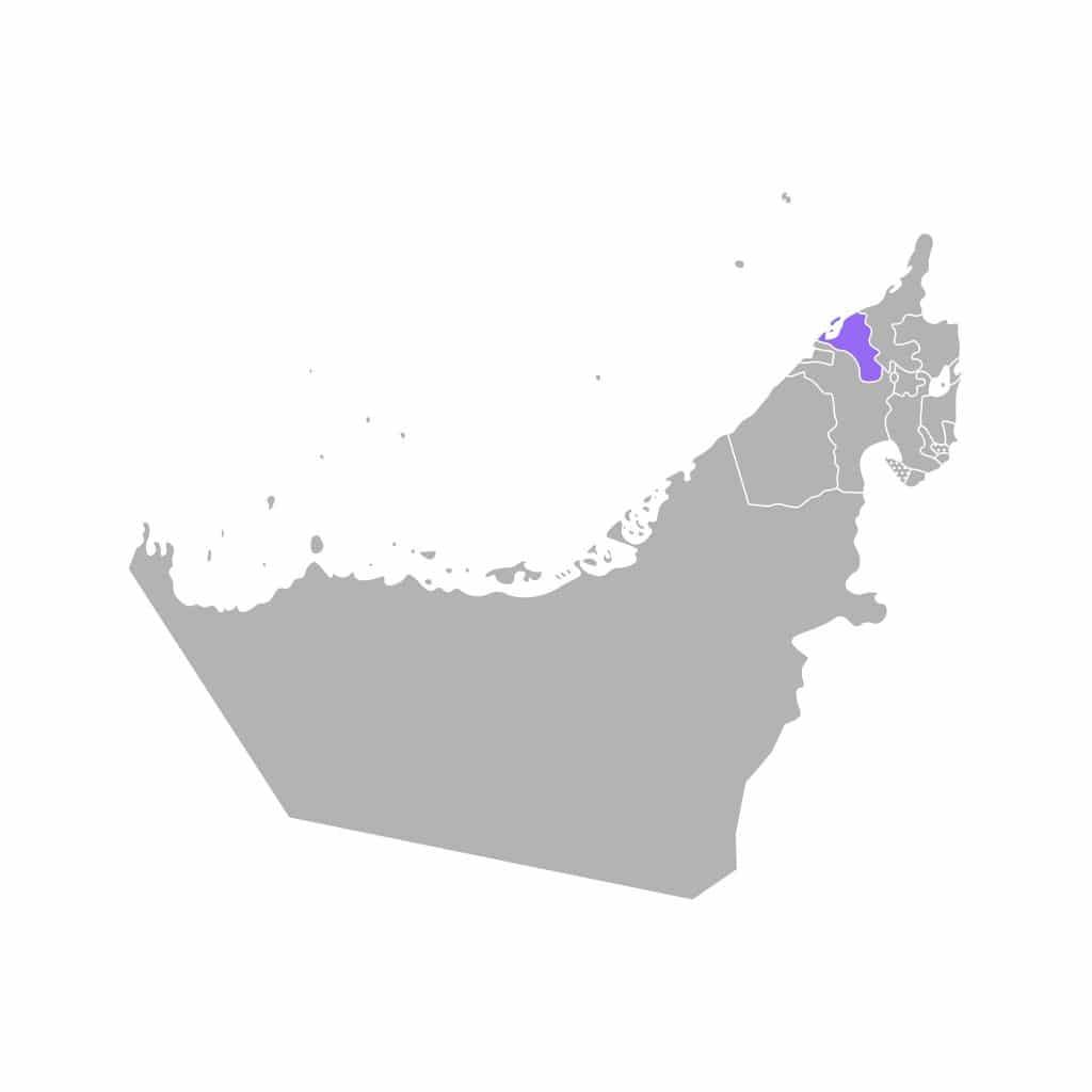 Mapa de Umm al-Quwain