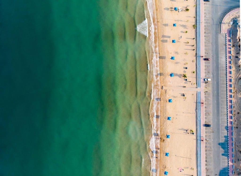 Praia em Ras Al Khaimah